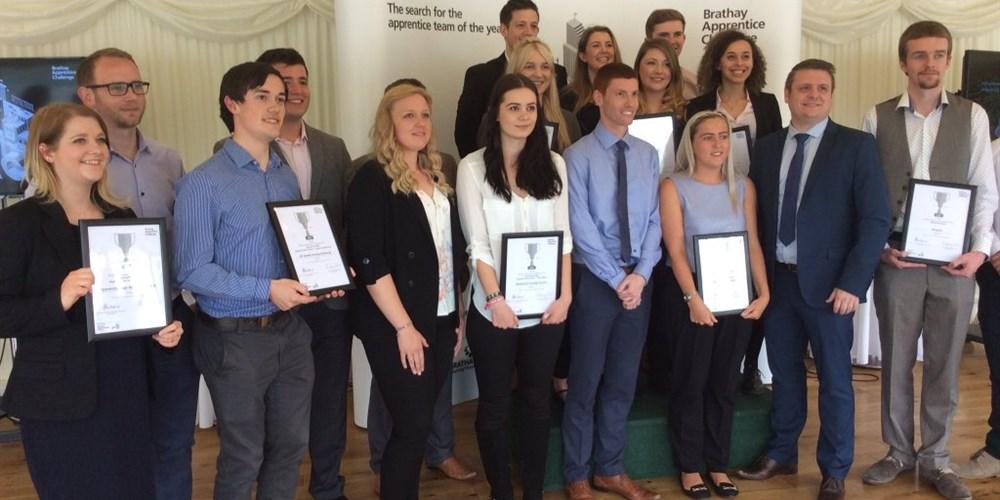 UKAEA Apprentice's receiving award