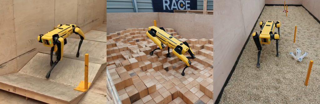 RACE's Boston Dynamics Spot Robot on tough terrain